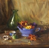 Pansies with Blue Porcelain